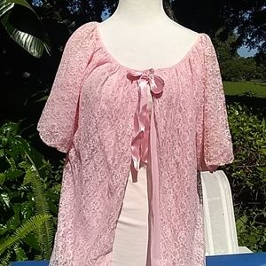Lace 50s vintage cover up size small medium